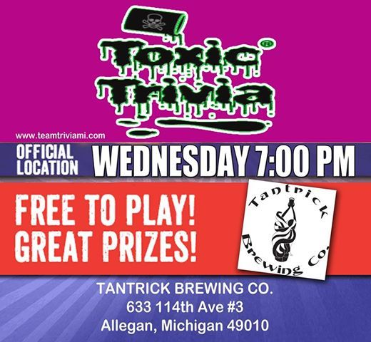 Wednesday Night Trivia Games at Tantrick