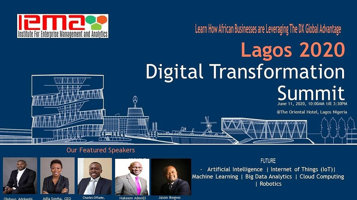 LAGOS 2021 Digital Transformation and Innovation Summit, 4 March | Event in Lagos | AllEvents.in