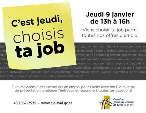 Cest Jeudi Choisis Ta Job At Carrefour Jeunesse Emploi De