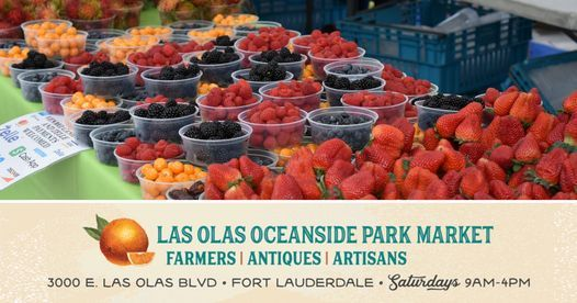 Las Olas Oceanside Park Farmer's, Antique and Artisan Market | Event in Fort Lauderdale | AllEvents.in
