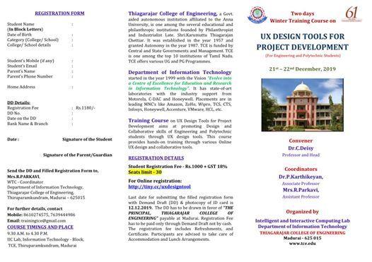 UX Design tools for Project Development