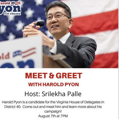 MEET & GREET with Harold Pyon  HD Dist 40 in Fairfax on Sat Aug 7th  7PM