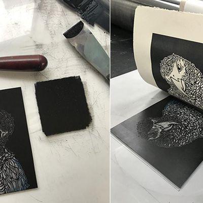 LowellArts AdultTeen Class Beginning Screenprinting Linoleum-Cut