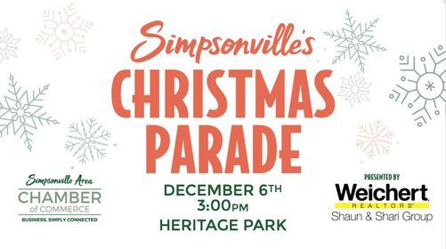 Simpsonville Christmas Parade 2021 Simpsonvilles Annual Christmas Parade Presented By Weichert Realtors Shaun Shari Group Heritage Park Simpsonville December 6 2020 Allevents In