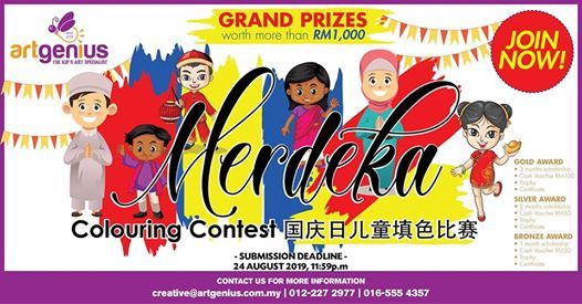 Art Geniuss Merdeka Colouring Contest 2019