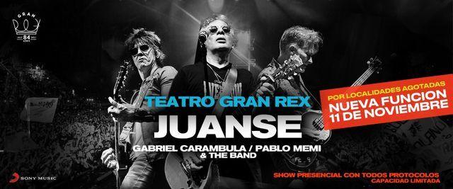 Juanse en vivo • BA, 11 November | Event in Sarandí | AllEvents.in