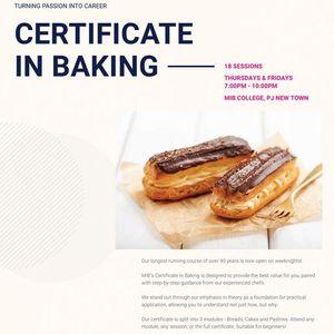 Weeknight Certificate in Baking