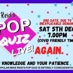 Pop Quiz Live Again - Hopefully again.
