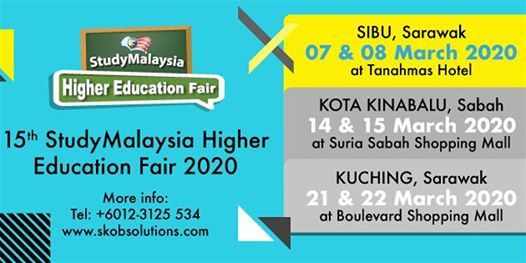StudyMalaysia Higher Education Fair 2020 (SIBU)