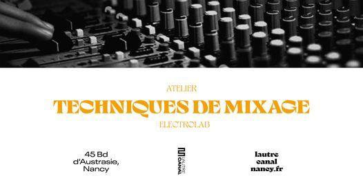 Atelier • Techniques de Mixage avec Narcis