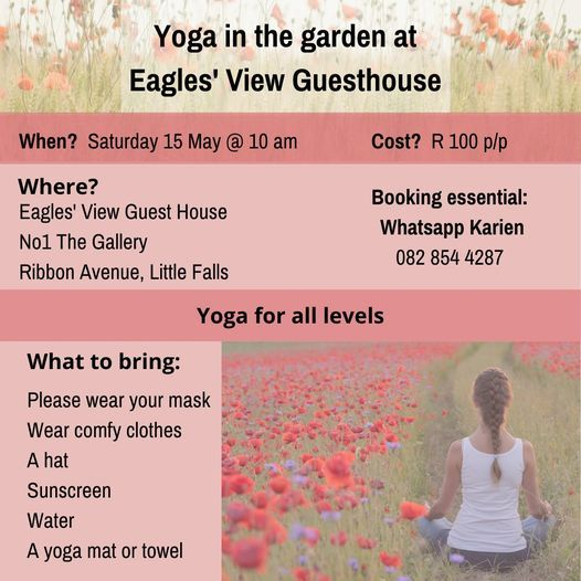 Yoga in the Garden at Eagles View, 15 May | Event in Roodepoort | AllEvents.in