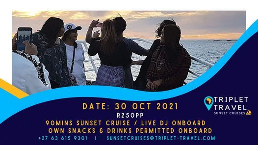 Sunset Party Cruise - Hout Bay, 30 October | Event in Cape Town | AllEvents.in