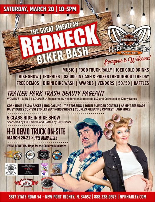The Great American Redneck Biker Bash, 20 March | Event in New Port Richey | AllEvents.in