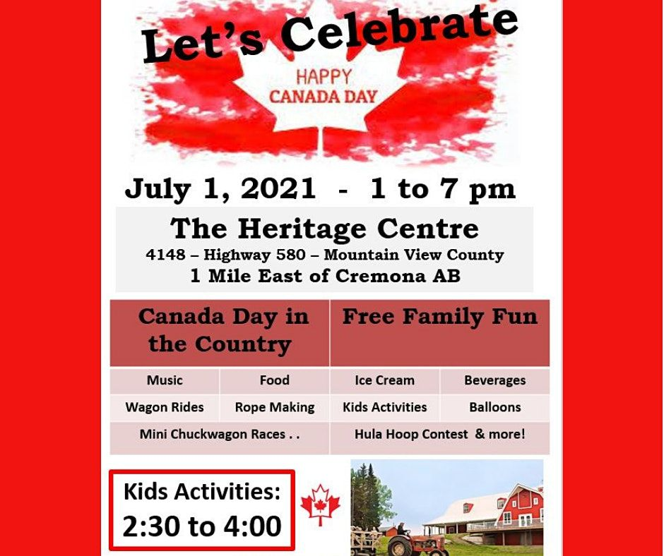 July 1 Canada Day Celebration | Event in Mountain View County | AllEvents.in