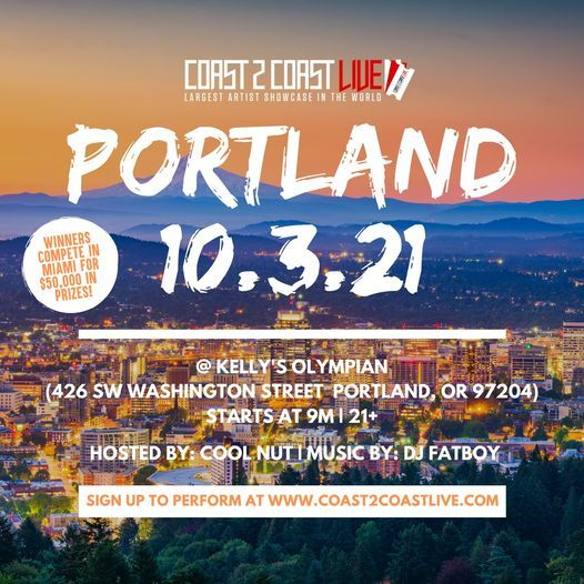 Coast 2 Coast LIVE Showcase Portland - Artists Win $50K In Prizes, 3 February | Event in Portland | AllEvents.in