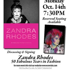 Zandra Rhodes 50 Fabulous Years in Fashion