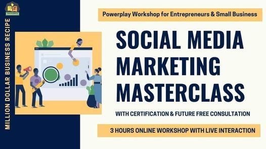 Social Media Marketing 3 Hours Online Masterclass, 25 April | Online Event | AllEvents.in