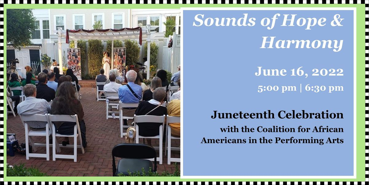 Let Freedom Sing! A Juneteenth Celebration, 16 June   Event in Alexandria   AllEvents.in