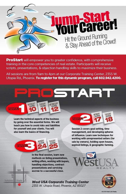 ProStart Training Program 7 Days Over Two Weeks September 9 - 19