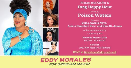Drag Happy Hour for Eddy Morales for Gresham Mayor   Event in Portland   AllEvents.in