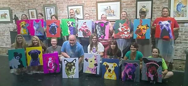 Pop Art Your Pet for Mid-America Bully Breed Rescue