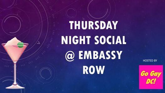 Thursday Night Social @ Embassy Row, 4 November   Event in Washington   AllEvents.in