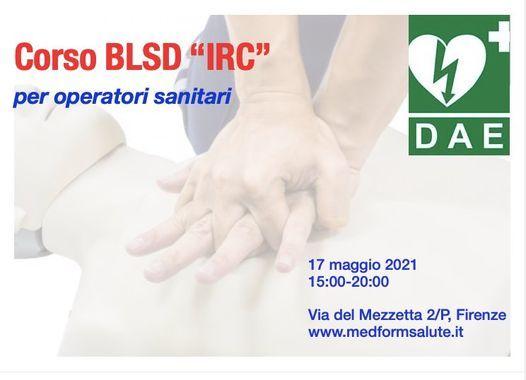 "Corso BLSD ""Irc"" a Firenze per operatori sanitari, 17 May | Event in Florence | AllEvents.in"