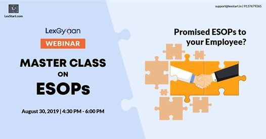 Master Class on ESOPs at LexStart, Mumbai
