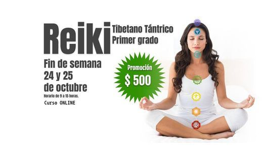 Primer grado de Reiki Tibetano Tántrico, 24 October | Online Event | AllEvents.in