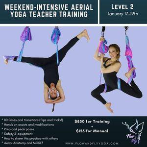 Flow & Fly Level 2 Aerial Yoga Teacher Training