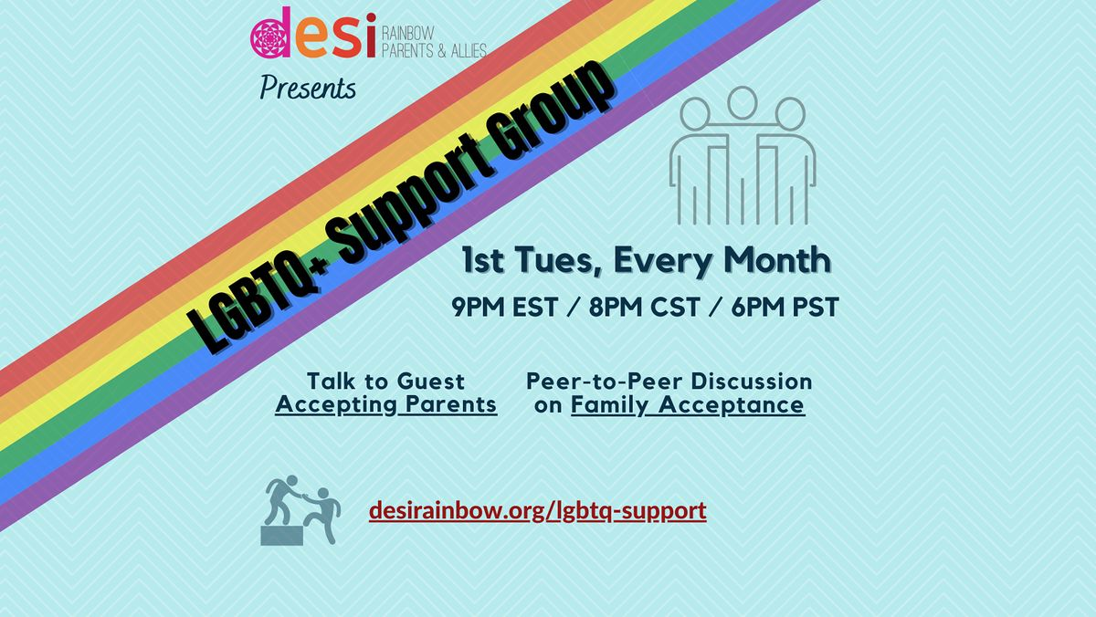 Desi Rainbow LGBTQ+ Support Group | Online Event | AllEvents.in