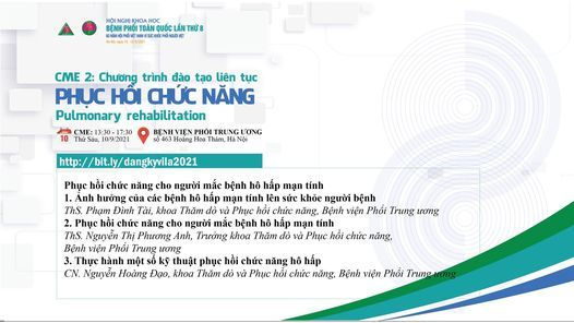 CME 2 - Phục hồi chức năng, 10 December   Event in Hanoi   AllEvents.in