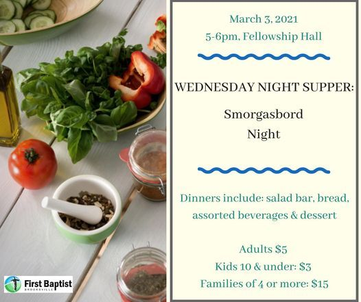 Wednesday Night Supper, 3 March   Event in Brooksville   AllEvents.in