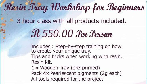 Resin Tray Workshop for Beginners, 24 April | Event in Boksburg | AllEvents.in
