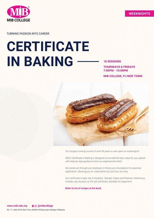 Weeknight Certificate in Baking   Event in Subang Jaya   AllEvents.in