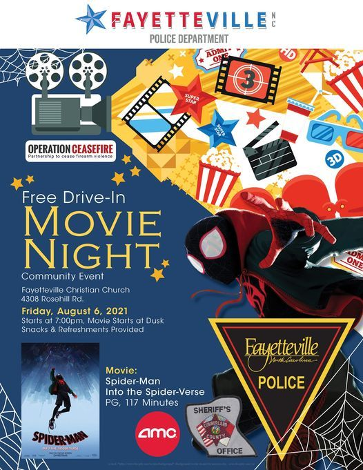 Operation Ceasefire Community Drive-In Movie Night, 6 August | Event in Fayetteville | AllEvents.in