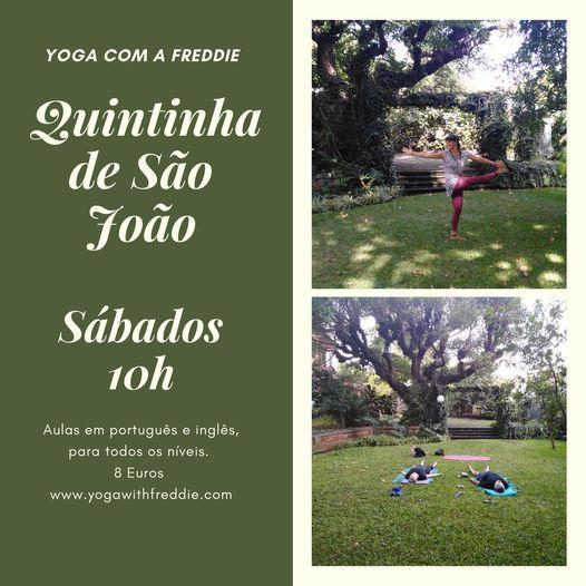Yoga com a Freddie na Quintinha de So Joo