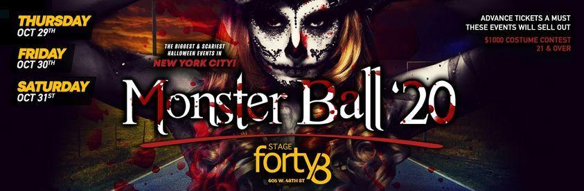 The Monster Ball 2021 - NYC's Biggest Halloween Weekend Parties, 29 October | Event in New York | AllEvents.in