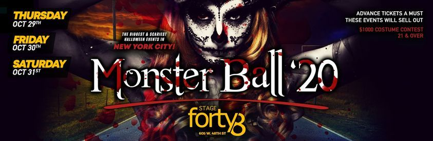 The Monster Ball 2021 - NYC's Biggest Halloween Weekend Parties, 29 October | Event in New York | AllEvents.in
