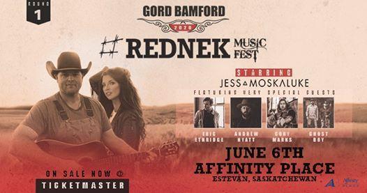Gord Bamford Rednek Music Fest NEW DATE