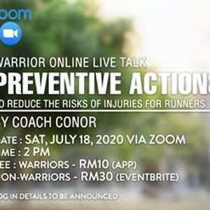 Warrior Online Live Talk  Preventive Actions