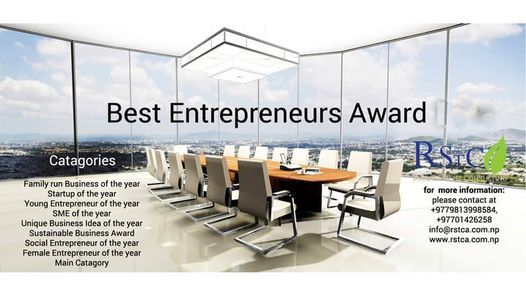 Global Best Entrepreneurs Award III, 13 February | Event in Kathmandu | AllEvents.in