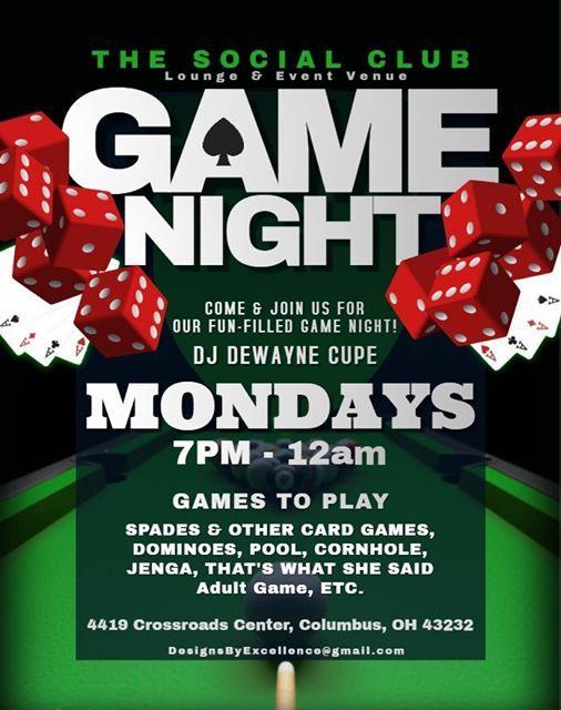 Game Night wDJ Cupe