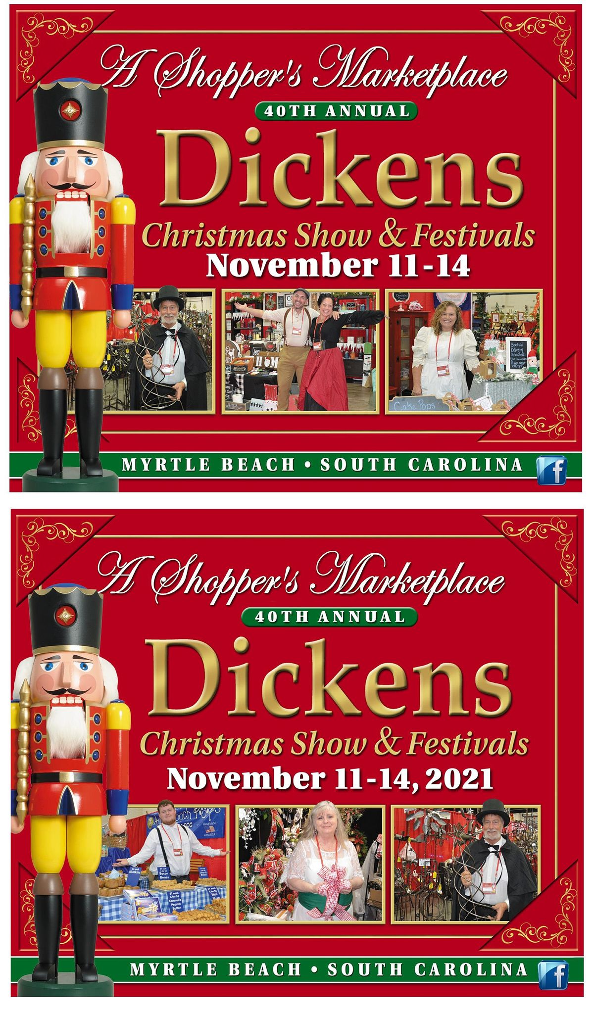Myrtle Beach Christmas Events 2021 40th Annual Dickens Christmas Show Festivals Myrtle Beach Convention Center November 11 To November 14 Allevents In