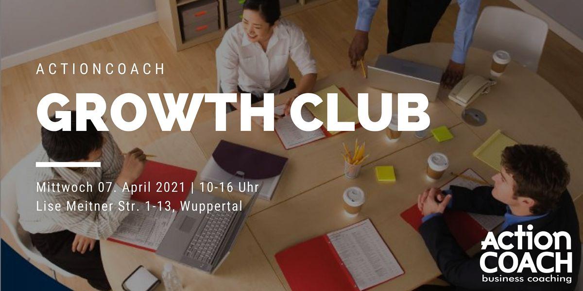 GrowthCLUB - Unternehmensplanung für KMU, Start-Ups und Selbständige, 7 April | Event in Wuppertal | AllEvents.in