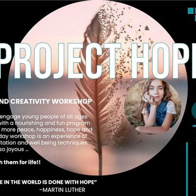 Project Hope 1-Day Creativity and Wellbeing Workshop 8-12 year olds