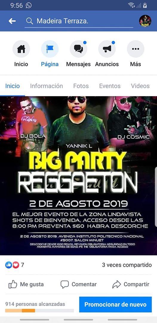 Big Party Reggaetón At Salon De Eventos Minuet Kristal Tlalpan
