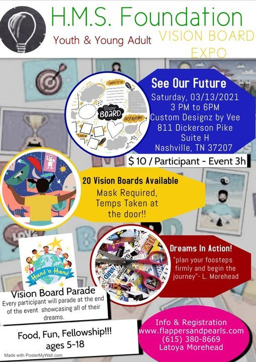 H.M.S. Foundation Youth & Young Adult Vision Board Expo, 13 March | Event in Nashville | AllEvents.in
