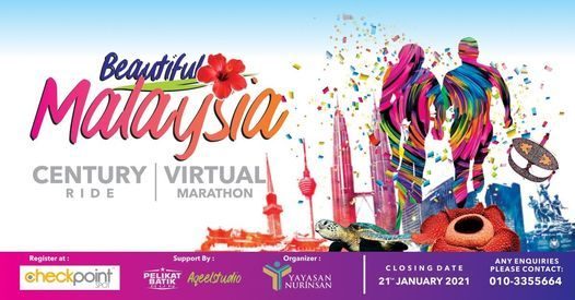 Beautiful Malaysia Virtual Marathon & Century Ride 2020 | Event in Kuala Lumpur | AllEvents.in