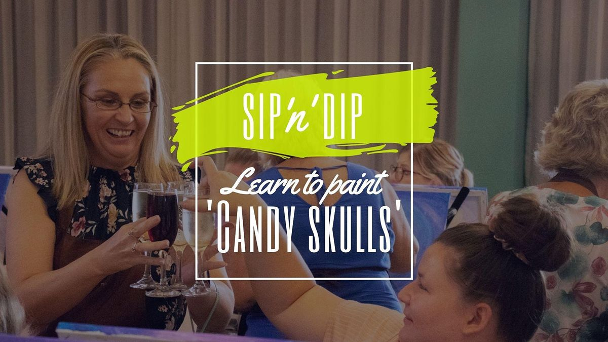 Moselles Springfield - Sip n learn to paint Candy Skulls